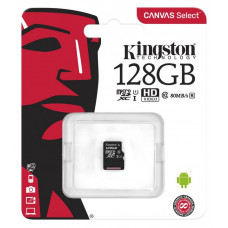 Карта памяти micro SDXC 128GB Kingston Canvas Select Plus Class 10 UHS-I U1 V10 A1; No SD adapter (SDCS2/128GBSP)