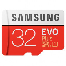 Карта памяти micro SDHC 32Gb Samsung; Class 10; EVO Plus UHS-I U3; With SD-adapter (MB-MC32GA/RU)