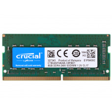 Оперативная память DDR4 SDRAM SODIMM 8Gb PC4-19200 (2400); Crucial (CT8G4SFS824A)