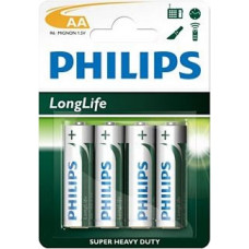 Батарейка Philips LongLife R6-L4B; Типоразмер AA