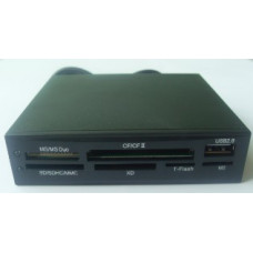 Картридер ATcom; чёрный; SD/MMC; SDНС; Memory Stick Pro/Pro duo; CF/MD; xD-Picture; USB-port